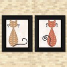 Cats - Diamond Pattern Set - Printable Wall Art