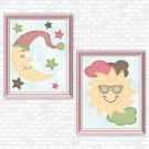 Sun & Moon (Girl Set) Printable Wall Art