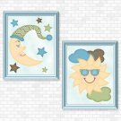 Sun & Moon (Boy Set) Printable Wall Art