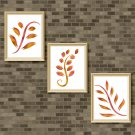 Red & Golden Yellow Foliage Set - Printable Wall Art