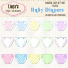 Baby Diapers (Clip Art Set)