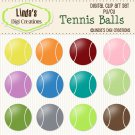 Tennis Balls (ClipArt Set)