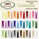 Clothespins (Clip Art Set)