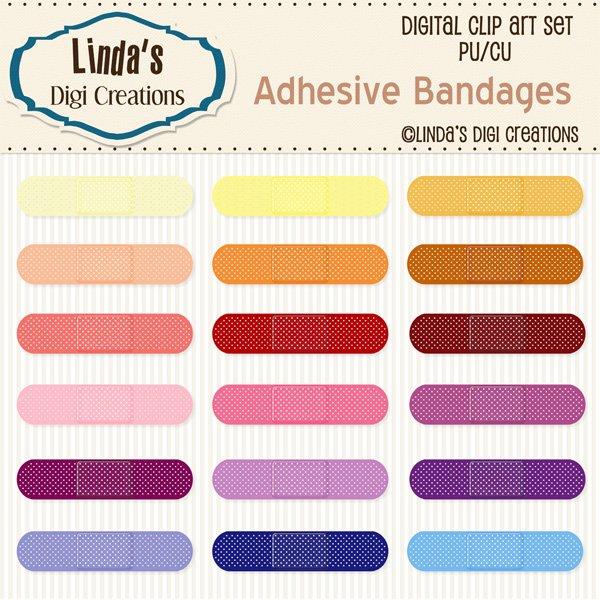 Adhesive Bandages (ClipArt Set)