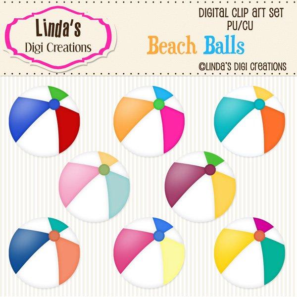 Beach Balls (ClipArt Set)