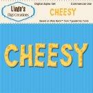 Cheesy Digital Alpha Set