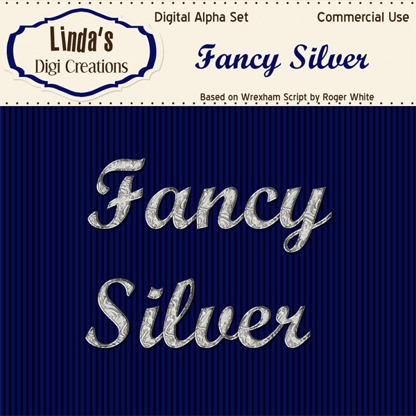 Fancy Silver Digital Alpha Set