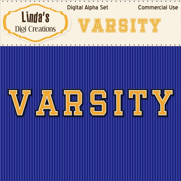 Varsity Digital Alpha Set_Yellow