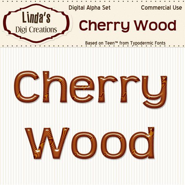 Cherry Wood Digital Alpha Set