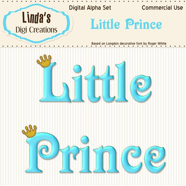 Little Prince Digital Alpha Set