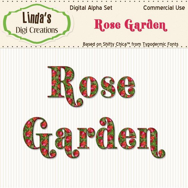 Rose Garden Alpha Set