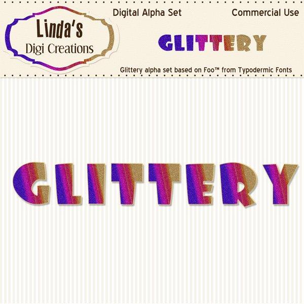 Glittery Alpha Set