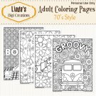 70's Style Adult Coloring Pages (Digital)