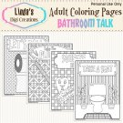 Bathroom Talk Printable Coloring Pages