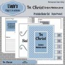 In Christ Scripture Meditation Journal_Blue & Gray (Printable Binder Set)