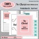 In Christ Scripture Meditation Journal_Pink & Turquoise (Printable Binder Set)
