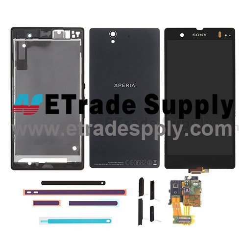 OEM Sony Xperia Z L36h LCD Screen and Digitizer Assembly with Complete Housing - Black
