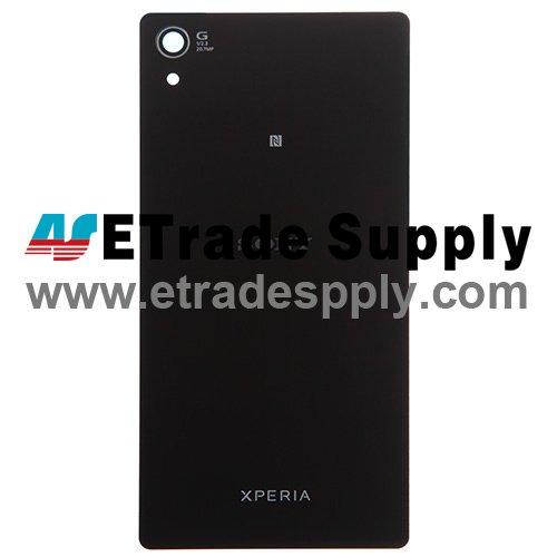 OEM Sony Xperia Z2 Battery Door - Black - With Sony Logo Only