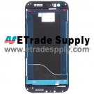 OEM HTC One M8 Front Housing without Top and Bottom Cover - Black