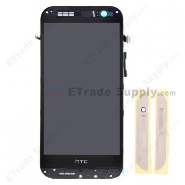 OEM HTC One M8 LCD Screen and Digitizer Assembly with Front Housing - Gold