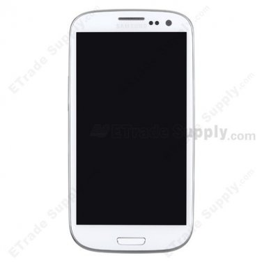 OEM Samsung Galaxy S III SGH-T999 LCD Screen and Digitizer Assembly with Front Housing - White