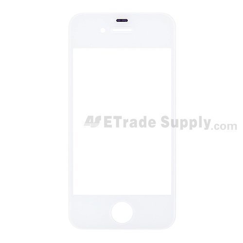 OEM Apple iPhone 4S Glass Lens - White - A Grade