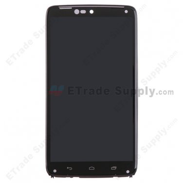 OEM Motorola Droid Turbo XT1254 LCD Screen and Digitizer Assembly with Front Housing Black