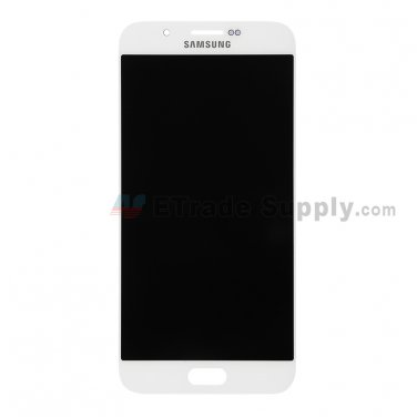 OEM Samsung Galaxy A8 SM-A800 LCD Screen and Digitizer Assembly - White - Samsung Logo - A Grade