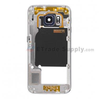 OEM Samsung Galaxy S6 Edge SM-G925A Rear Housing - Sapphire - A Grade