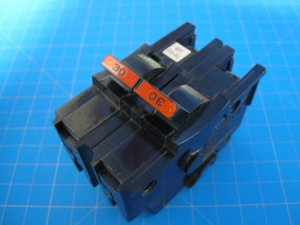 Free Shipping - FEDERAL PACIFIC FPE Stab-Lok 30 Amp 2 Pole Wide BREAKER