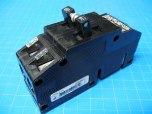 60 AMP Zinsco Double Pole Wide Breaker Type Q