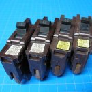 "Lot 0f 4 FEDERAL PACIFIC FPE 15 & 20 AMP single pole 1"" wide Breakers GUARANTEED"
