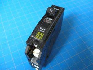 Square D 10 AMP SQ D Type QO Circuit Breakers Free Shipping !