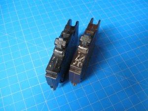 Set of TWO FEDERAL PACIFIC FPE Single Pole Stab-Lok 15&20 AMP BREAKER FPE