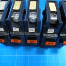 "Lot of 5 - FEDERAL PACIFIC FPE Stab-Lok 20 Amp 1"" Wide BREAKERS type NA"