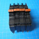 Set Of 4 2-15 & 2-20 AMP Single Pole Federal Pacific FPE Breakers Chipped