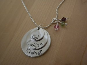 Triple Disc Aluminum Necklace