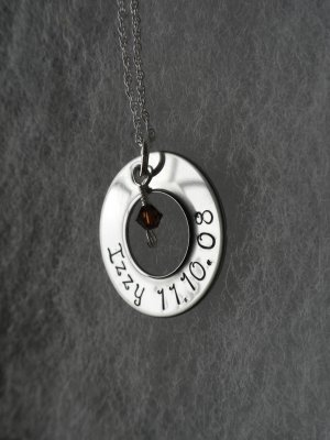Stainless Steel Washer Style Necklace