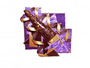 Curls Purple Brooch