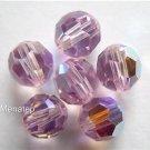 Swarovski 5000 Crystal Beads -- 5mm Lt. Amethyst AB(3)