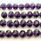 25 5 x 6mm Czech Glass Small Rosebud Beads: Tanzanite