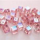 3 4mm Swarovski 5601 Crystal Beads: Light Rose ABB