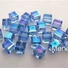3 4mm Swarovski 5601 Crystal Beads: Light Sapphire ABB