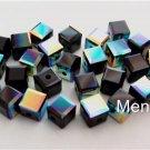 3 4mm Swarovski 5601 Crystal Beads: Jet ABB