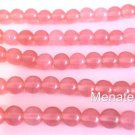 50 6mm Czech Glass Round Beads: Milky Pink