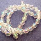 25 6mm Czech Glass Firepolish Beads: Crystal AB 2x