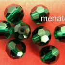 3 5mm Swarovski 5000 Crystal Rounds -- Emerald