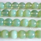 10 10mm Czech Glass Round Beads: Milky Peridot
