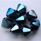 Swarovski 5301 Crystal Beads - 5mm Metallic Blue 2x (5)
