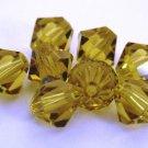 5 6mm Swarovski 5301 Crystal Bicones -- Lime
